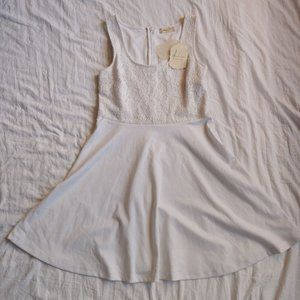 Altar'd State Fit And Flare White Dress